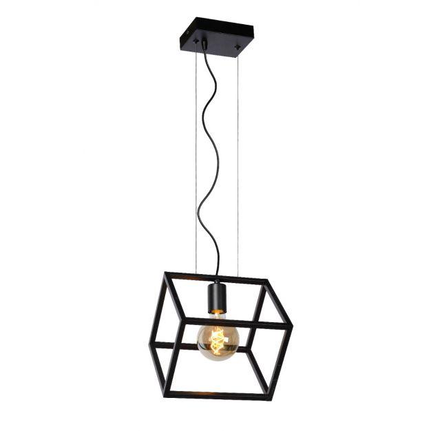 Lucide Fabian - hanglamp - 25 x 28 x 161 cm - zwart