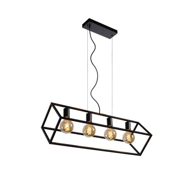 Lucide Fabian - hanglamp - 80 x 28 x 161 cm - zwart
