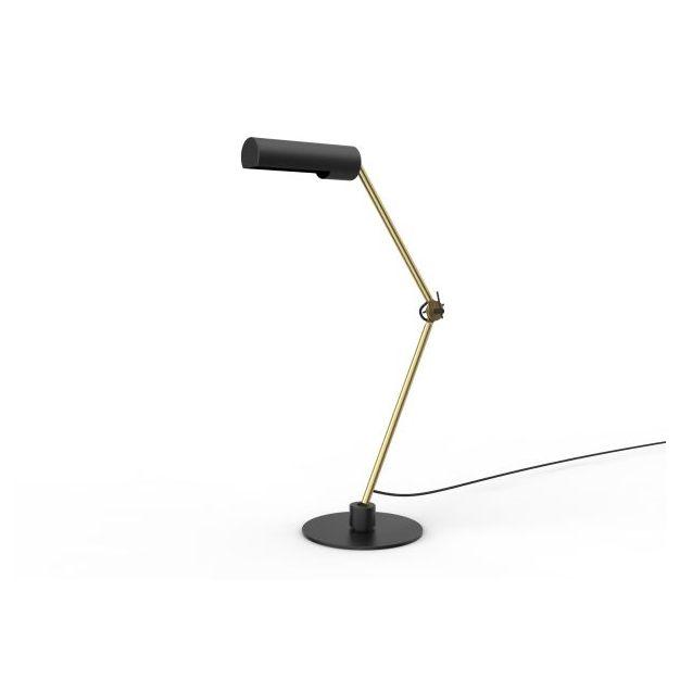 Lucide Slender - tafellamp - 80 x 23 x 80 cm - zwart en goud