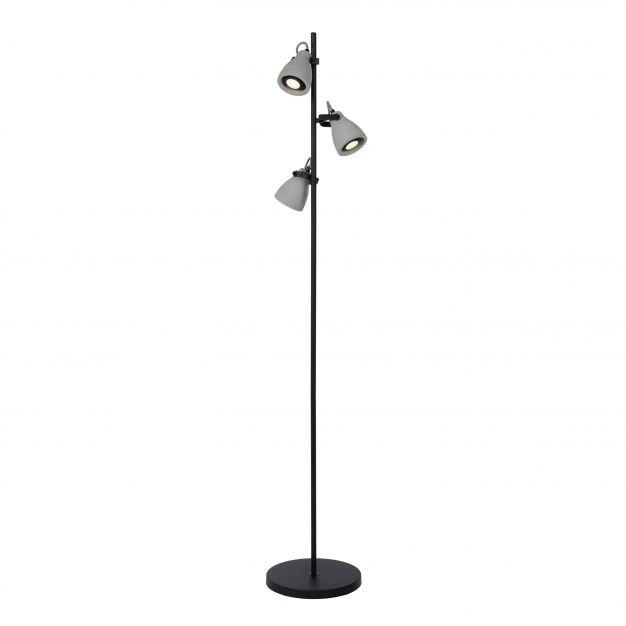 Lucide Concri LED - staanlamp - 160 cm - 3 x 5W LED incl. - zwart en grijs