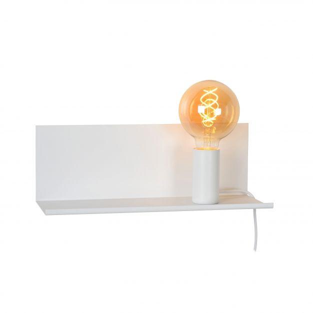 Lucide Sebo - wandlamp met schakelaar - 37 x 13 x 13 cm - wit