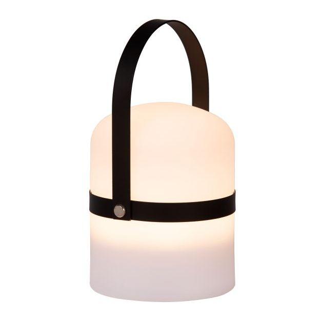 Lucide Little Joe - buiten tafellamp - Ø 10 x 18,5 cm - 3 stappen dimmer - 3W LED incl. - IP44 - zwart