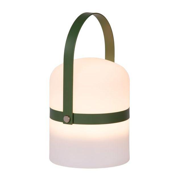 Lucide Little Joe - buiten tafellamp - Ø 10 x 18,5 cm - 3 stappen dimmer - 3W LEd incl. - IP44 - groen