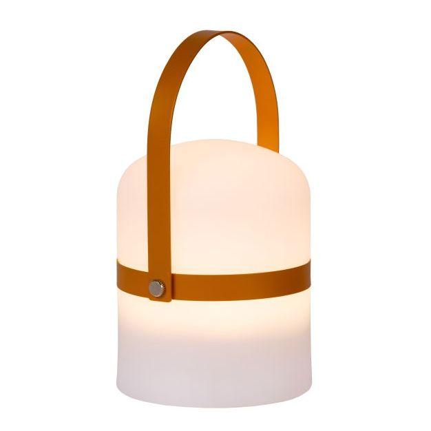 Lucide Little Joe - buiten tafellamp - Ø 10 x 18,5 cm - 3 stappen dimmer - 3W LED incl. - IP44 - bruin