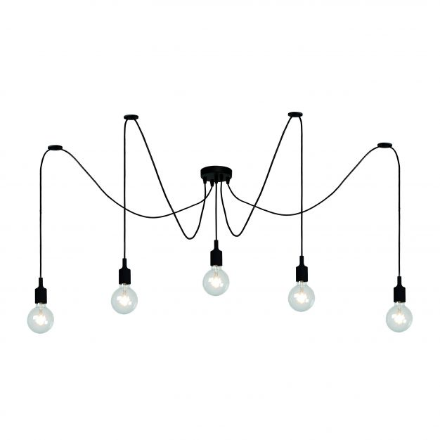 Lucide Fix Multiple - hanglamp - 400 x 200 cm - zwart