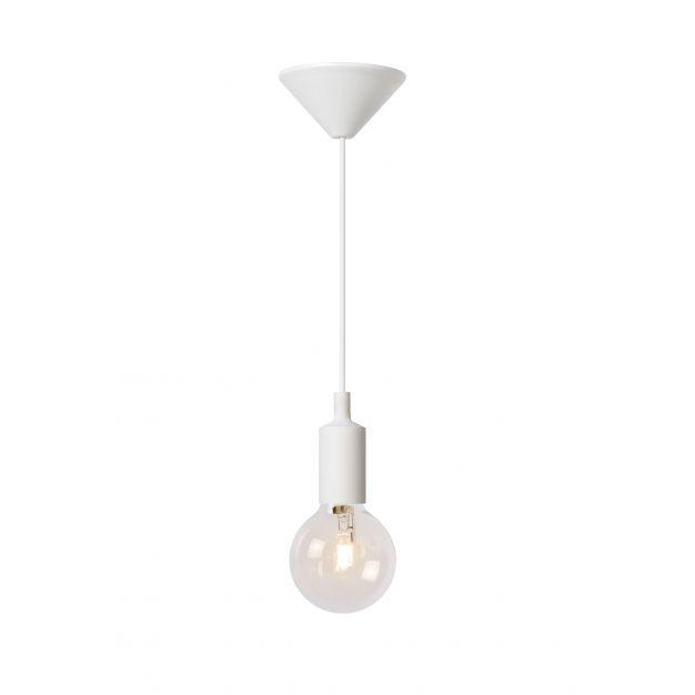 Lucide Fix - hanglamp - Ø 10 x 120 cm - 42W dimbare halogeen incl. - wit (op=op!)