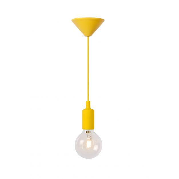Lucide Fix - hanglamp - Ø 10 x 120 cm - 42W dimbare halogeen incl. - geel (op=op!)