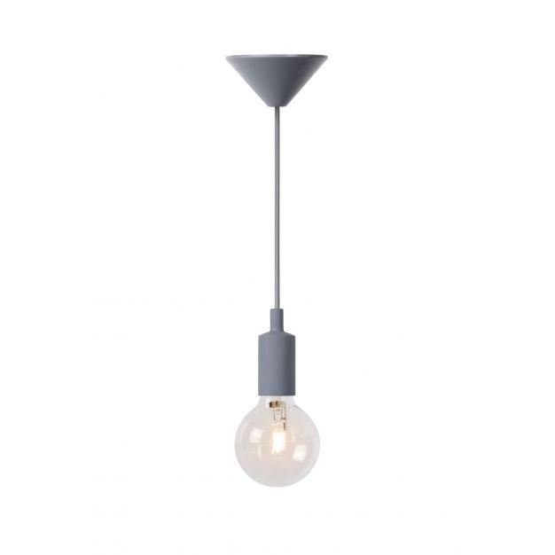 Lucide Fix - hanglamp - Ø 10 x 120 cm - 42W dimbare halogeen incl. - grijs (op=op!)