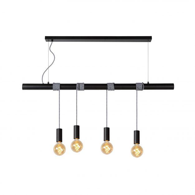 Lucide Jaime - hanglamp - 120 x 8 x 30 cm - zwart