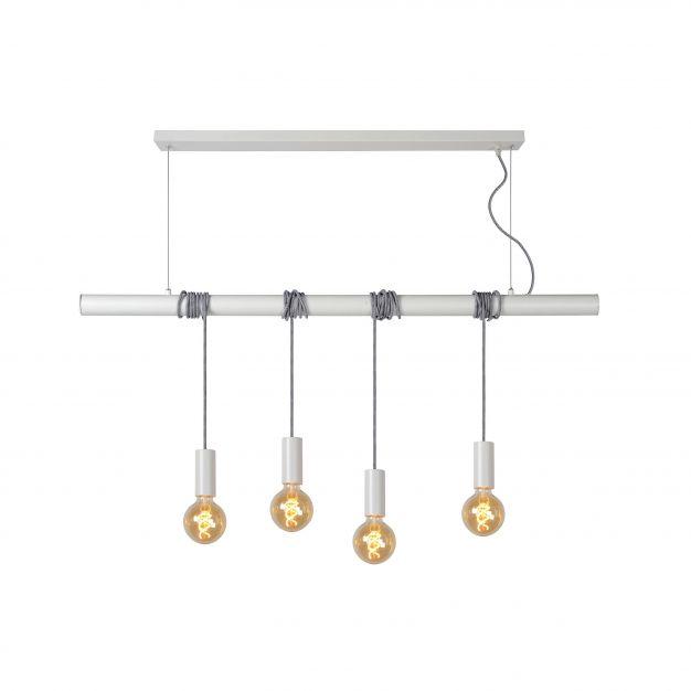 Lucide Jaime - hanglamp - 120 x 8 x 300 cm - wit