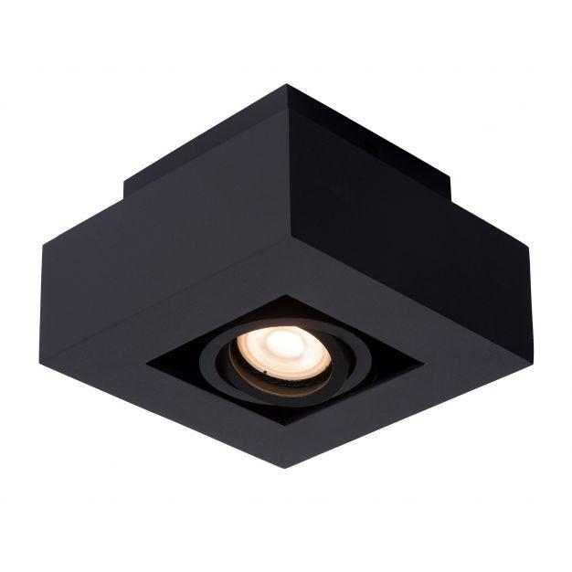 Lucide Xirax - opbouwspot 1L - 14 x 14 x 8 cm - 5W dimbare LED incl. - zwart