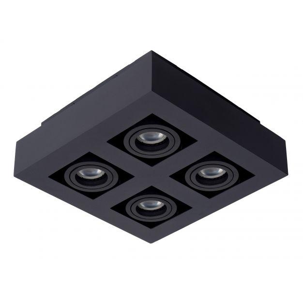 Lucide Xirax - opbouwspot 4L - 25 x 8 cm - 4 x 5W dimbare LED incl. - zwart