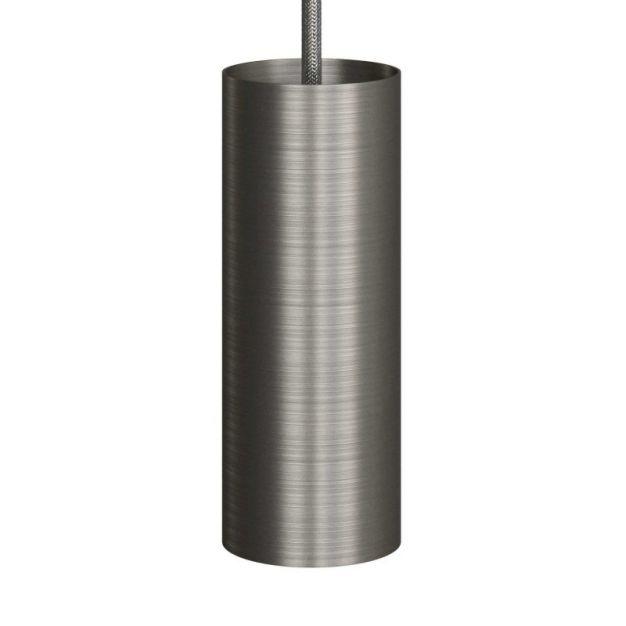 Creative Cables Tube - hanglamp 1L - Ø 12,5 x Ø 6 x 190 cm - geborsteld titanium