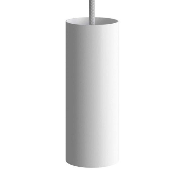 Creative Cables Tube - hanglamp 1L - Ø 12,5 x Ø 6 x 190 cm - wit
