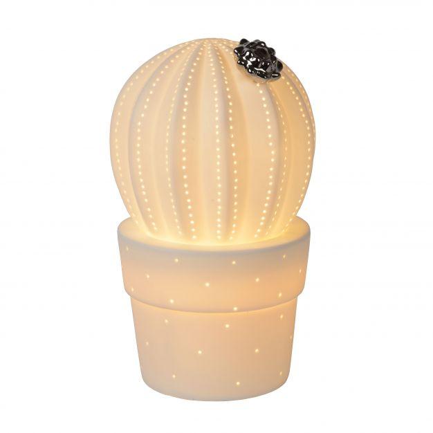 Lucide Cactus - tafellamp - 22 cm - wit
