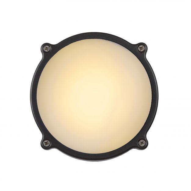 Lucide Hublot LED - buiten wand/plafondlamp - Ø 15 x 6 cm - 6W LED incl. - IP65 - grijs