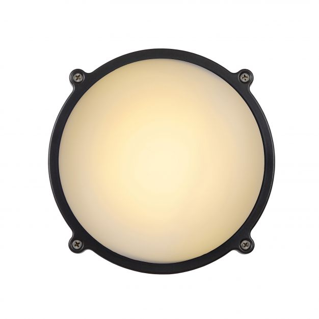 Lucide Hublot LED - buiten wand/plafondlamp - Ø 19 x 7 cm - 12W LED incl. - IP65 - grijs