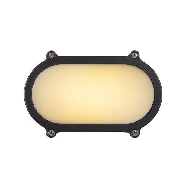 Lucide Hublot LED - buiten wand/plafondlamp - 10 x 5 x 15 cm - 6W LED incl. - IP65 - grijs