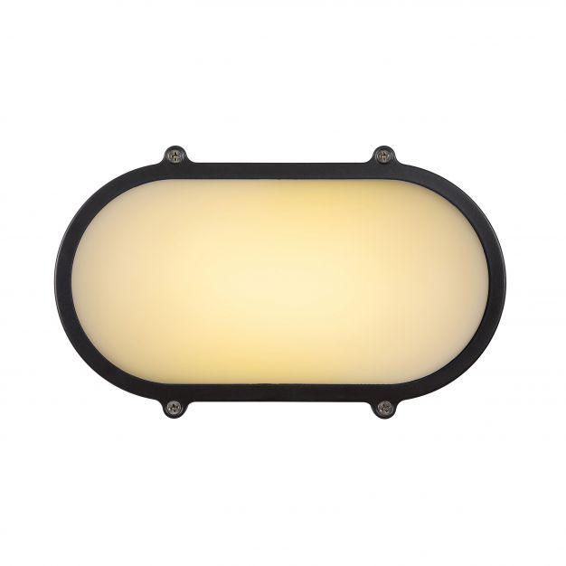 Lucide Hublot LED - buiten wand/plafondlamp - 13 x 7 x 21 cm - 12W LED incl. - IP65 - grijs
