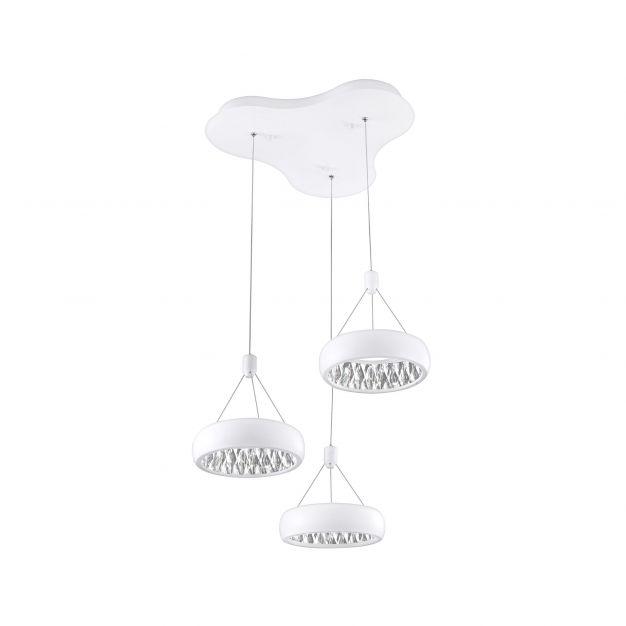 Nova Luce Lumi - hanglamp - Ø 45 x 120 cm - 36W LED incl. - mat wit