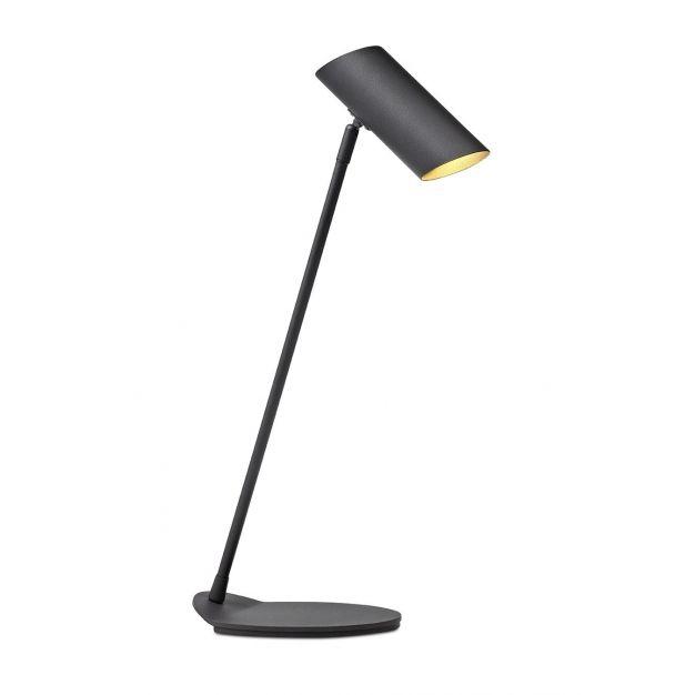 Lucide Hester - bureaulamp - 53 cm - zwart