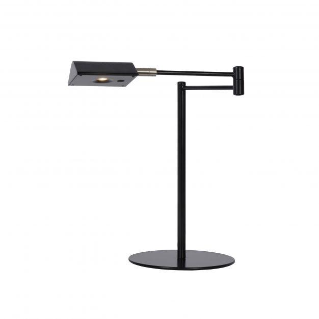 Lucide Nuvola - bureaulamp - 20 x 20 x 38 cm - 9W dimbare LED incl. - zwart