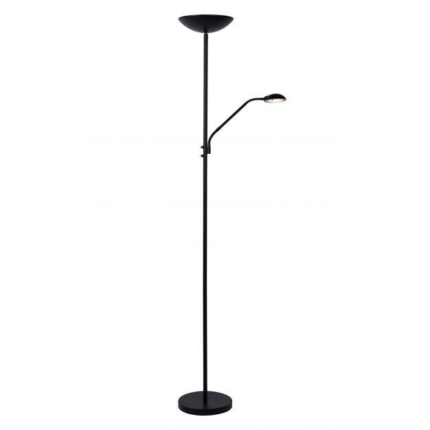 Lucide Zenith - staanlamp met leeslamp - 180 cm - 20W + 4W LED incl. - zwart