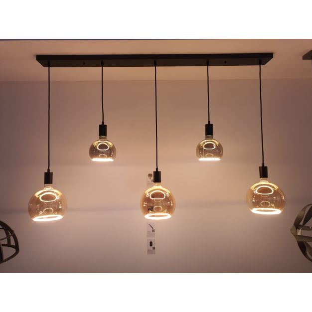 Lichtkoning Ensemble - hanglamp 5L - 130 x 10 x 150 cm - zwart