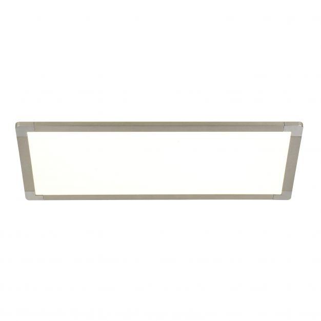 Brilliant Smooth - plafondverlichting - 60 x 30 x 6 cm - 30W + 15W easydim LED incl. - zilver / wit