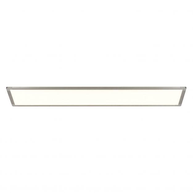 Brilliant Smooth - plafondverlichting - 120 x 30 x 6 cm - 60W + 32W easydim LED incl. - zilver / wit