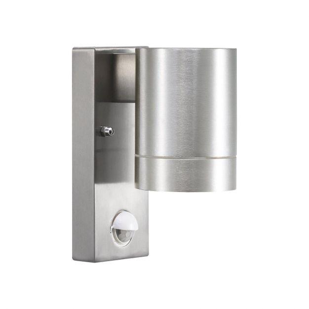 Nordlux Tin Maxi Sensor - buiten wandverlichting met bewegingsdetector - 7,5 x 16 x 12,5 cm - IP54 - aluminium