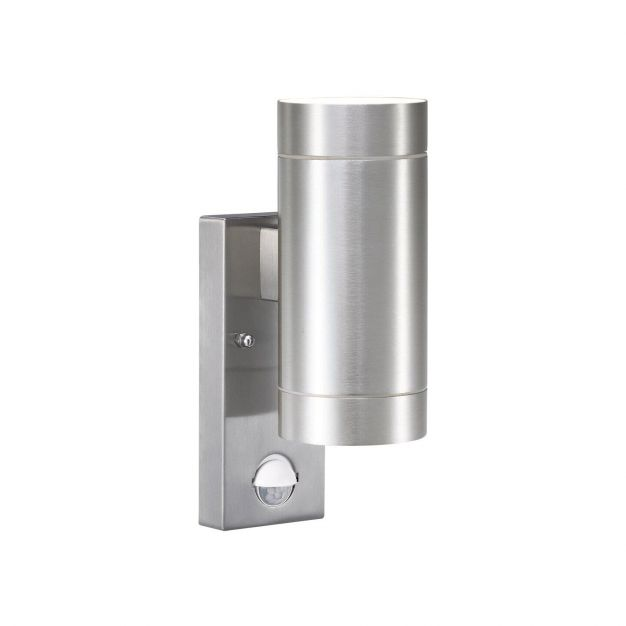 Nordlux Tin Maxi Sensor - buiten wandverlichting met bewegingsdetector - 7,6 x 22 x 12,5 cm - IP54 - aluminium