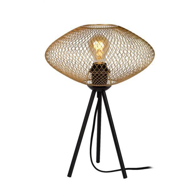 Lucide Mesh - tafellamp - Ø 30 x 41 cm - goud