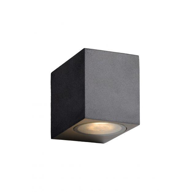 Lucide Zora - buiten wandlamp - 6,5 x 9 x 8 cm - 5W dimbare LED incl. - IP44 - zwart