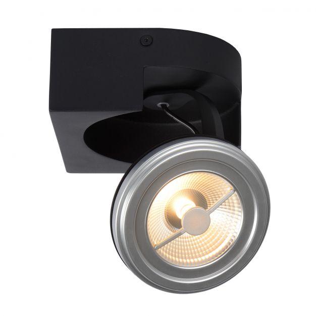 Lucide Versum AR111 - opbouwspot 1L - 15 x 15 x 11 cm - 10W dimbare LED incl. - zwart