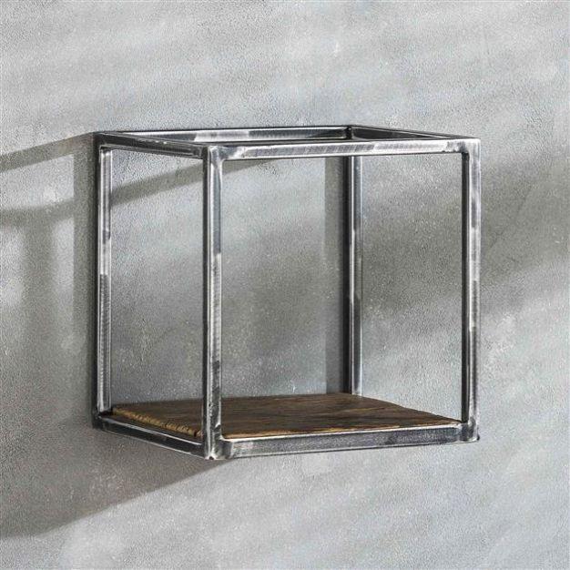 Vico grain - wandschap - 30 x 25 x30 cm - donkergrijs