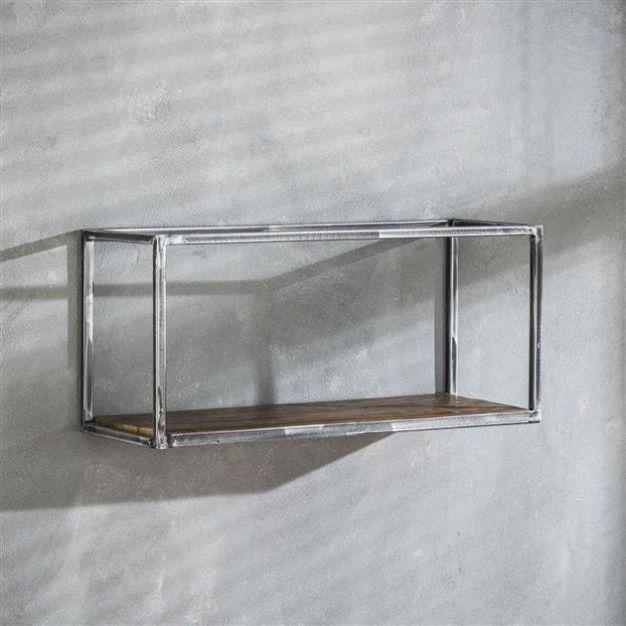 Vico grain - wandschap - 65 x 25 x 30 cm - donkergrijs