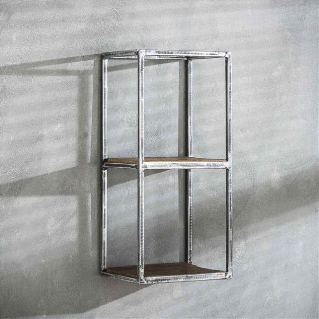 Vico grain - wandschap - 30 x 25 x 65 cm - donkergrijs