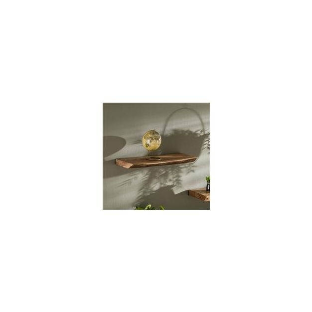 Vico Natural Edge - wandschap - 60 x 20 x 4 cm - acaciahout