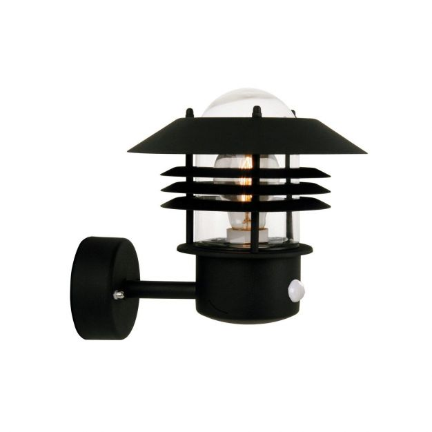 Nordlux Vejers Sensor - buiten wandverlichting met bewegingsdetector - 22 x 23 x 26 cm - IP54 - zwart