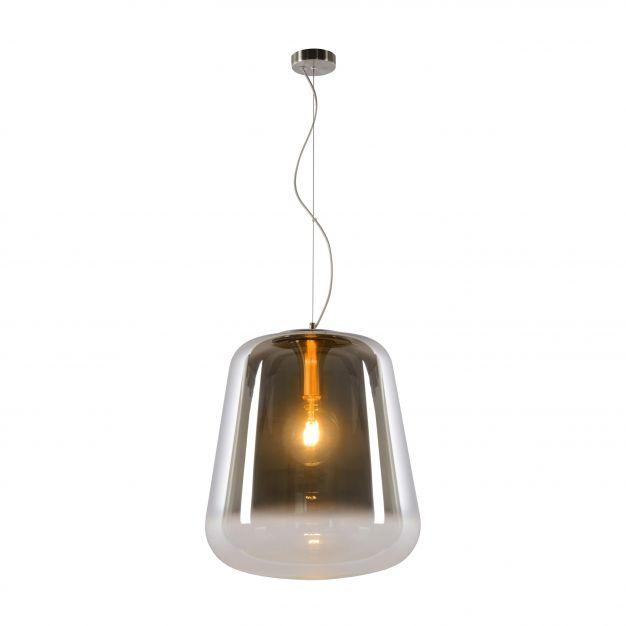 Lucide Glorio - hanglamp - Ø 45 x 180 cm - gerookt glas