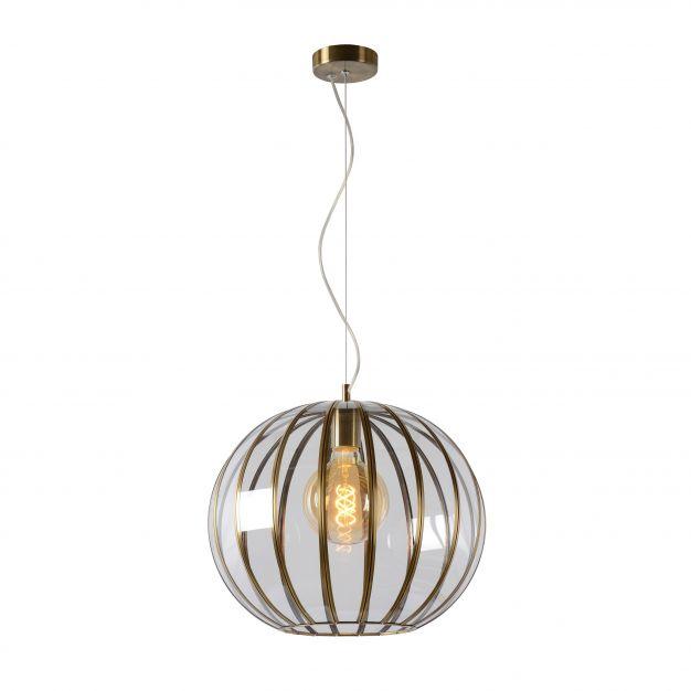 Lucide Timius - hanglamp - Ø 40 x 163 cm - brons