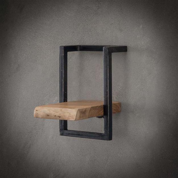 Vico Edge - wandschap - 20 x 25 x 30 cm - acaciahout