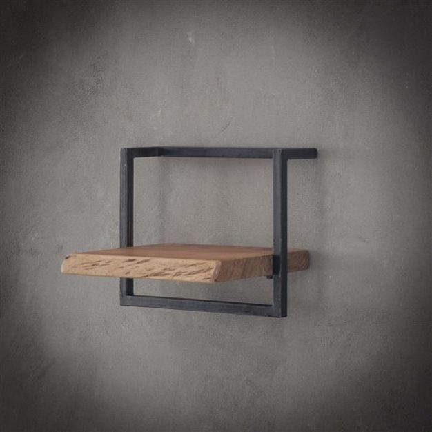 Vico Edge - wandschap - 40 x 25 x 30 cm - acaciahout