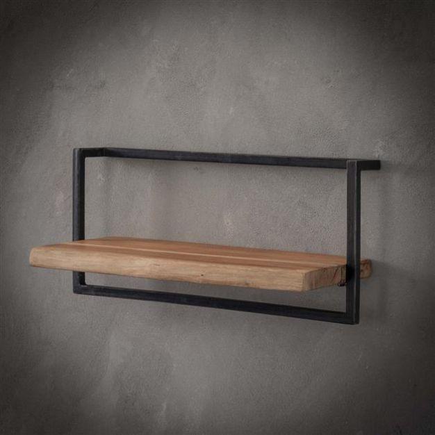 Vico Edge - wandschap - 65 x 25 x 30 cm - acaciahout