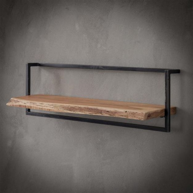 Vico Edge - wandschap - 100 x 25 x 30 cm - acaciahout