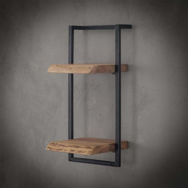 Vico Edge - wandschap - 30 x 25 x 65 cm - acaciahout