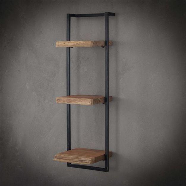 Vico Edge - wandschap - 30 x 25 x 100 cm - acaciahout