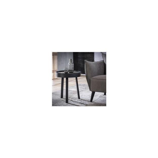 Vico Teca Greywash - bijzettafel - Ø 45 x 52 cm - teakhout - grijs