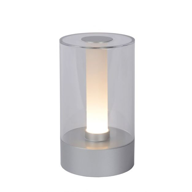 Lucide Tribun - tafellamp - Ø9 cm - 3W dimbare LED - mat chroom